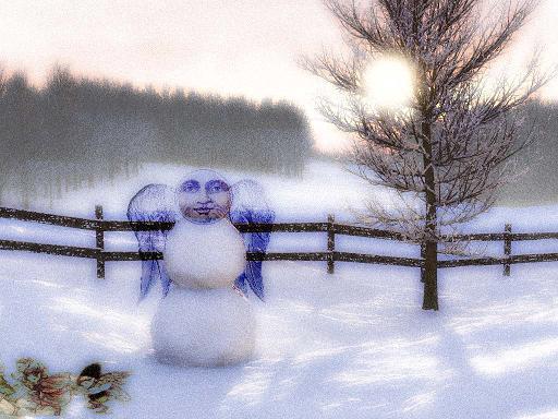 Mysterious snowman decorators