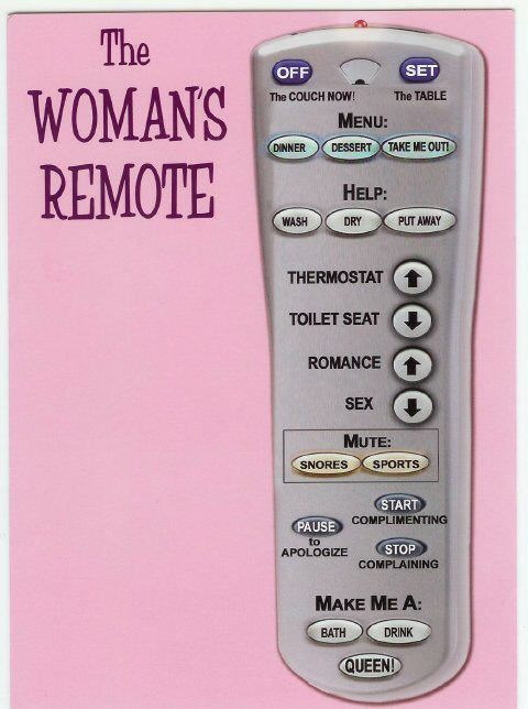 A woman's remote
